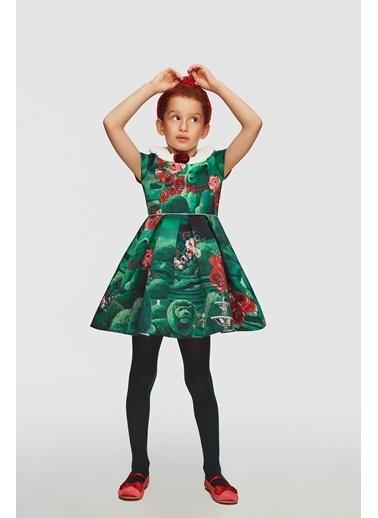 Lia Lea Kız Çocuk Yeşil Elbise Yeşil